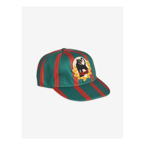 badge cap green mini rodini panther green and red