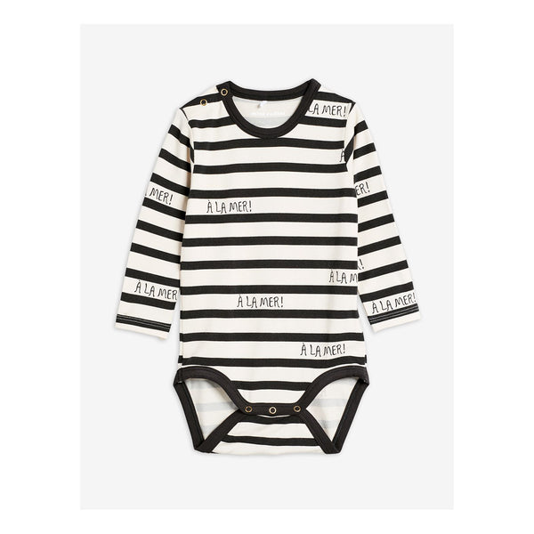 a la mer body mini rodini stripes white and grey long sleeves