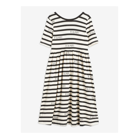 dress a la mer capsule collection mini rodini stripes white and grey