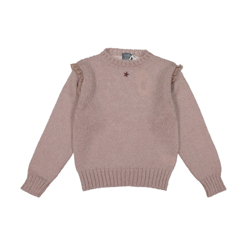 Tocoto Vintage  knitted Powder Pink Sweater with star