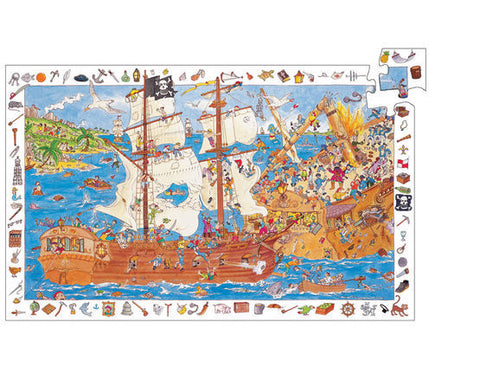 pirates puzzle observation puzzle from Djeco