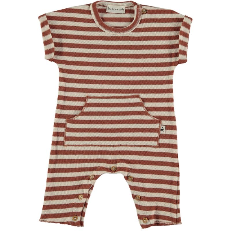 mistral striped tile brown and white jumpsuit my little