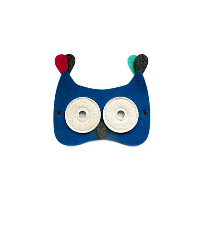 owl mask frida's tierchen wool mask in blue