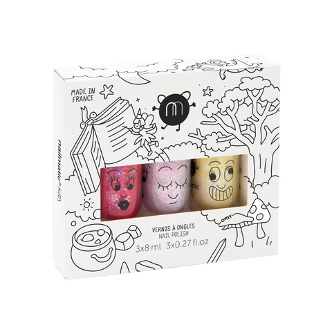 magic forest set of three nail polish from nailmatic Sissi Elliot Lulu