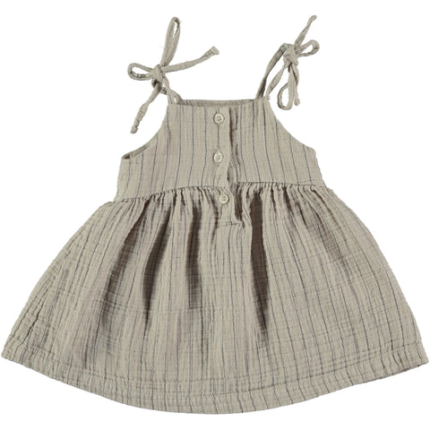 helga dress baby greta dress stone color my little cozmo