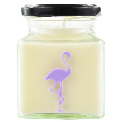 Flamingo Candles ~ Lychee & Peony Classic Square Jar Candle