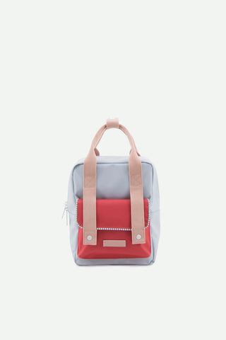 Sticky Lemon A agatha blue + elevator red + mendl's pink small backpack