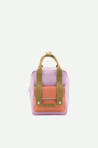 sticky lemon small envelope deluxe backpack lila olive and orange