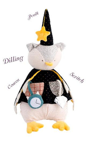 owl magician activity soft toy from moulin roty