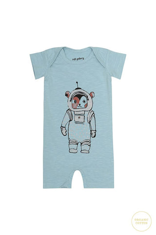 soft gallery body Owen forget me not blue with space print