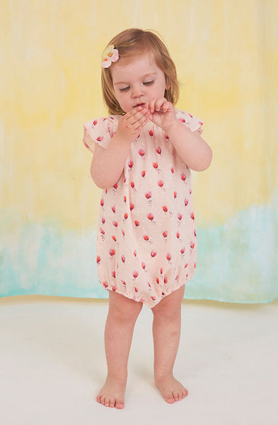 Alison jumpsuit in pink with all over print from Soft Gallery