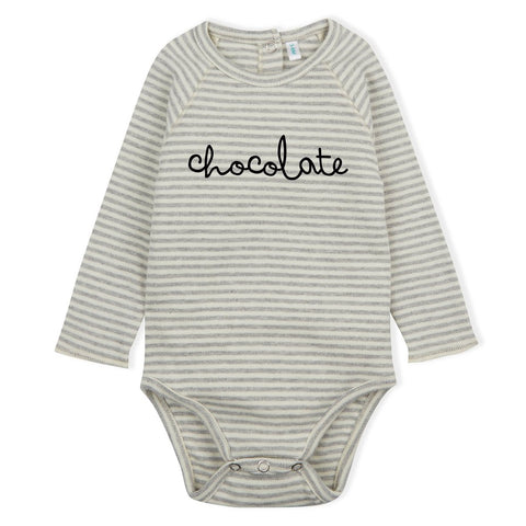 Organic Zoo - Body - chocolate grey stripes