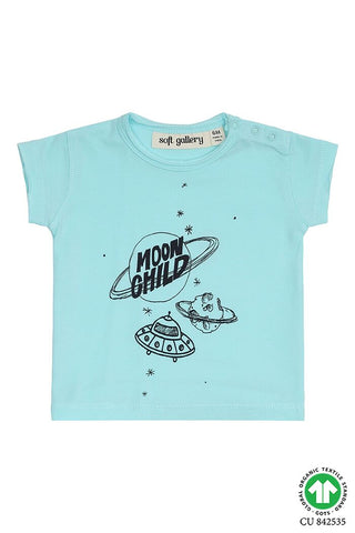 moon child t-shirt baby boy blue with print soft gallery