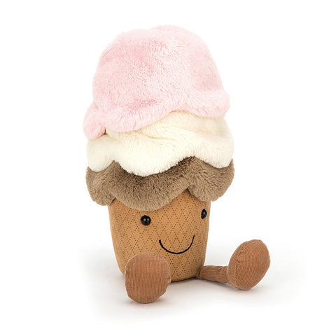 jellycat amusable ice cream pink and cream