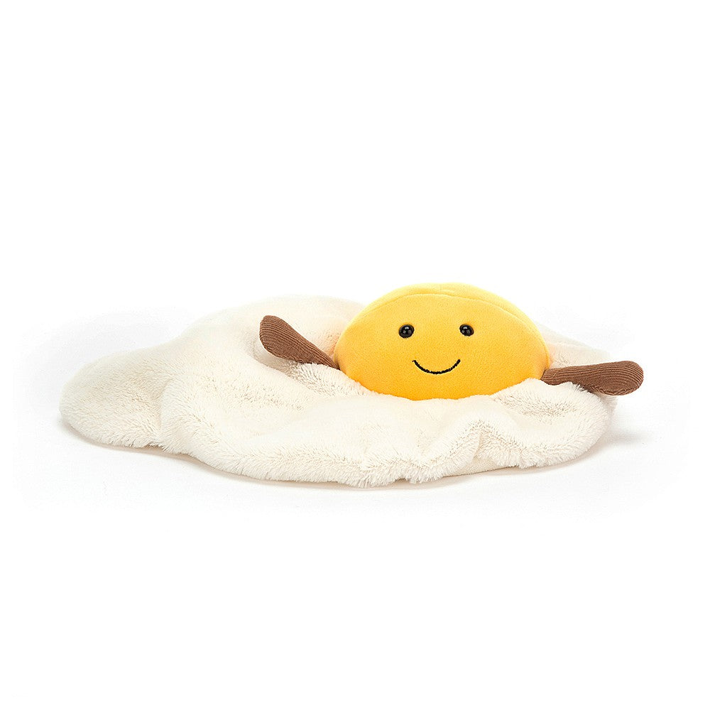 amusable fried egg from jellycat white and yellow