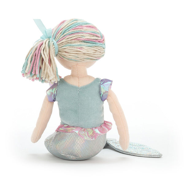 Jellycat - Aqua Lily Mermaid with iridescent tail and rainbow hair