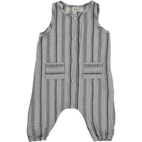 from buho barcelona zeus romper in grey with stripes