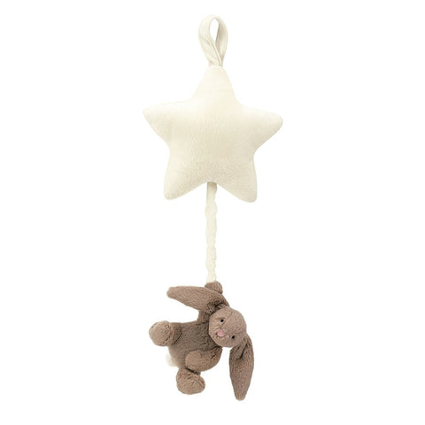 jellycat music pull bunny grey with white star