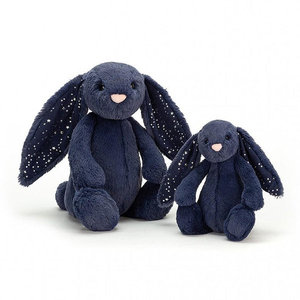stardust bunny dark blue with silver stars from jellycat