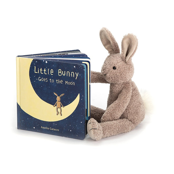Little Bunny goes to the moon Jellycat book