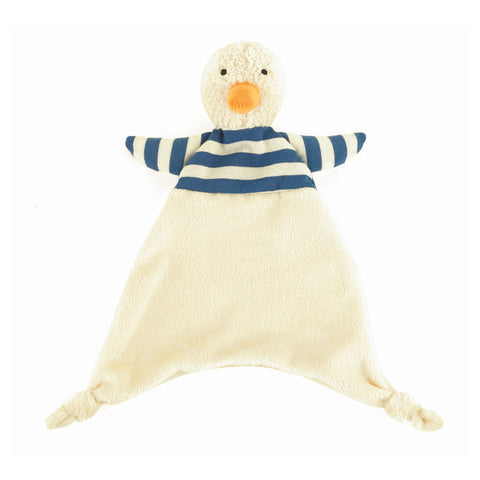 bredita duck soother striped shirt blue and white