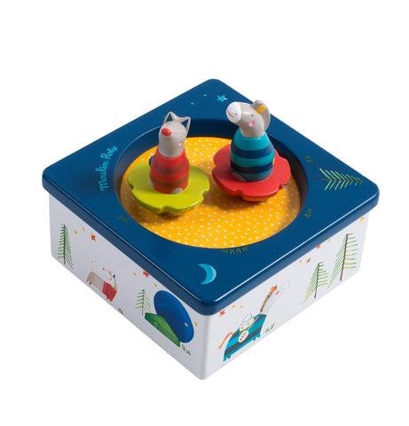 Moulin Roty - Music Box Zig Zag with colorful animals