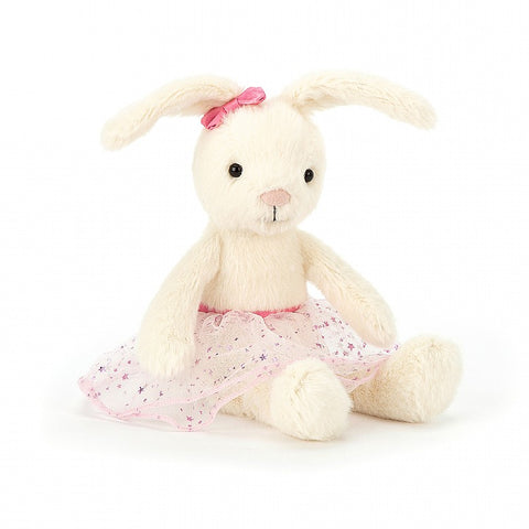 Belle Bunny Ballet jellycat white with pink skirt conejita jellycat belle con falda rosa
