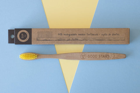 SUP ~ Adult Toothbrush - Yellow
