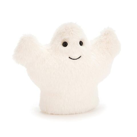 woo fluffy ghost from jellycat in white