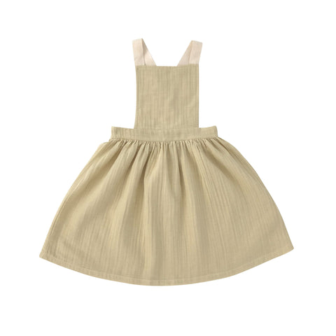 mina apron dress liilu organic honey yellow and white