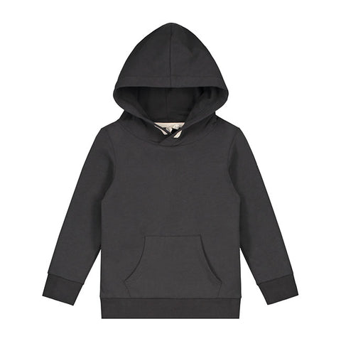 gray label classic hooded sweatshirt in black sudadera de grey label en negro