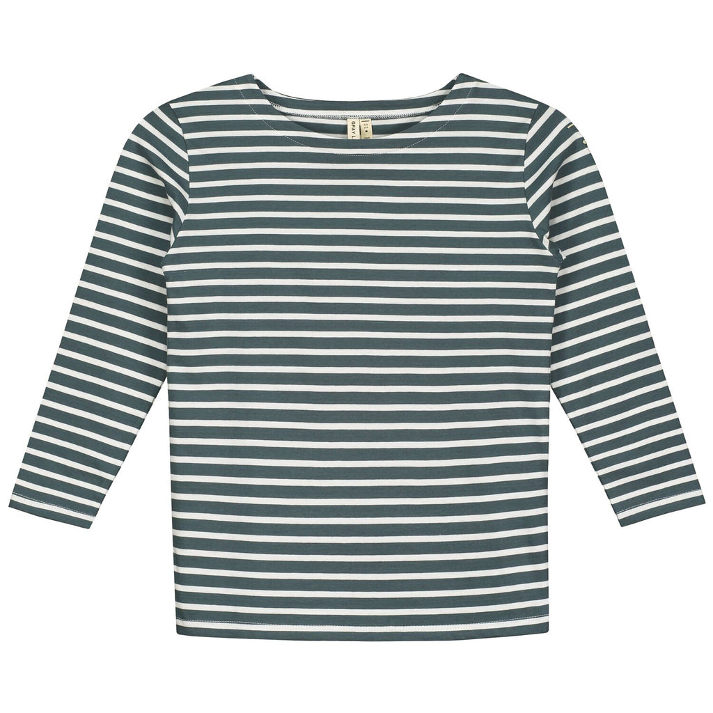 L/S striped tee, gray label, barcelona, konfetti kids, niños