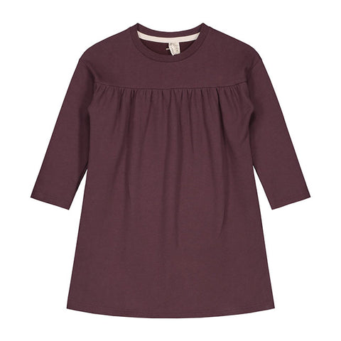 from gray label the pleated dress in plum
