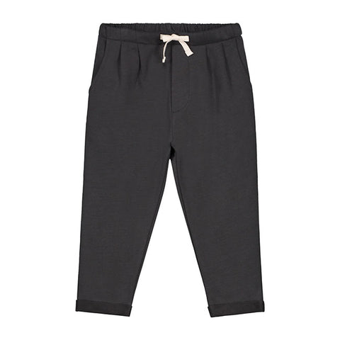 gray label pleated trousers in nearly black pantalones niños en negro de grey label