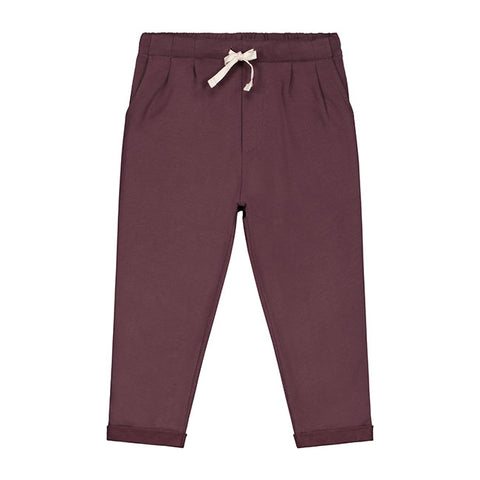 gray label pleated trousers in plum pantalones niños en bordeaux de grey label