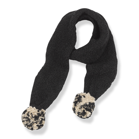scarf bufanda one more in the family black and beige