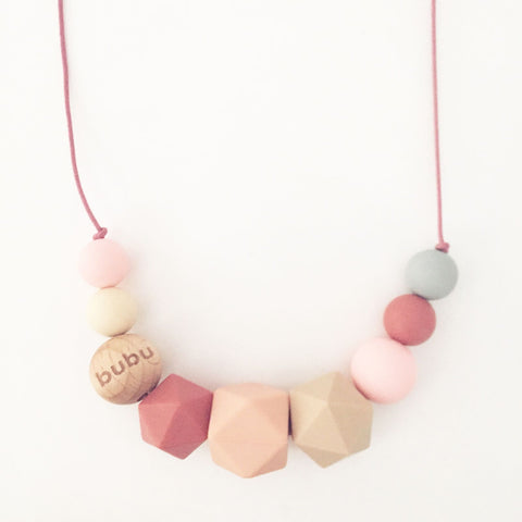 BUBU - pink teething necklace