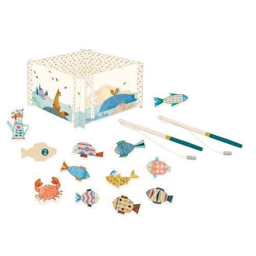 fishing game moulin roty Olga magnetic fishes