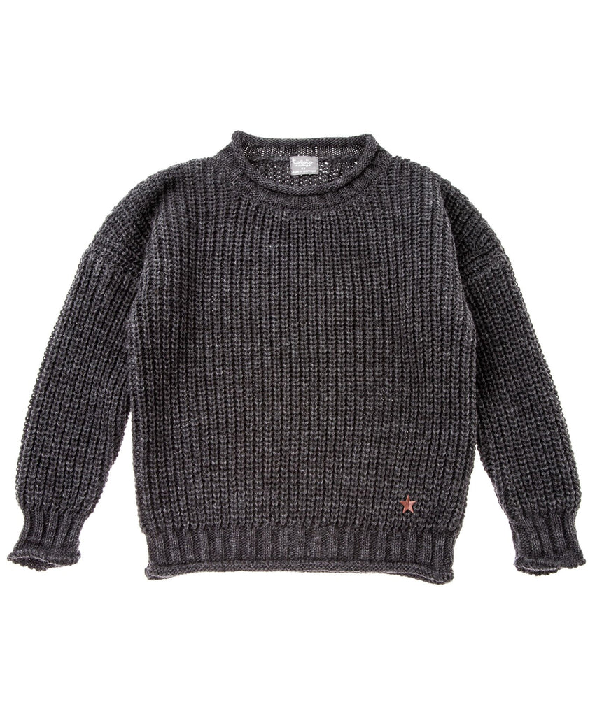 From Tocoto Vintage a warm knitted sweater in dark grey