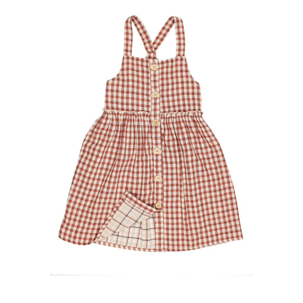 zoe double check dress vestido de buho barcelona con botones