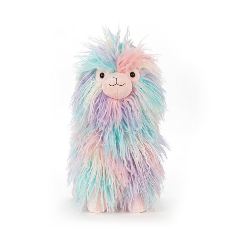 lovely llama from jellycat pastel colors at konfetti kids barcelona