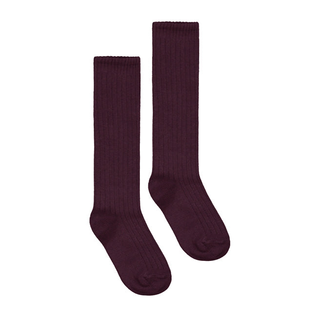 Gray Label Long Ribbed Socks plum