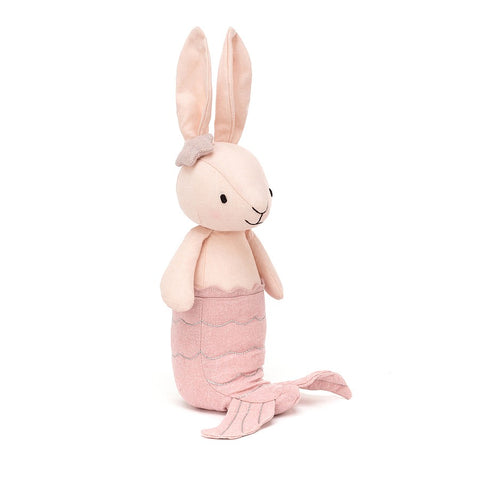 merbunny blush bunny mermaid by jellycat blush color with star