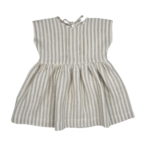 marlene dress, stripes, bebe organic, linen, barcelona, konfetti kids