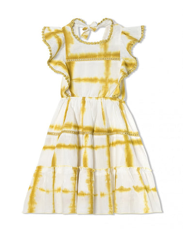 chandamama the Harleen dress in yellow for girls, vestido para niña de chandamama