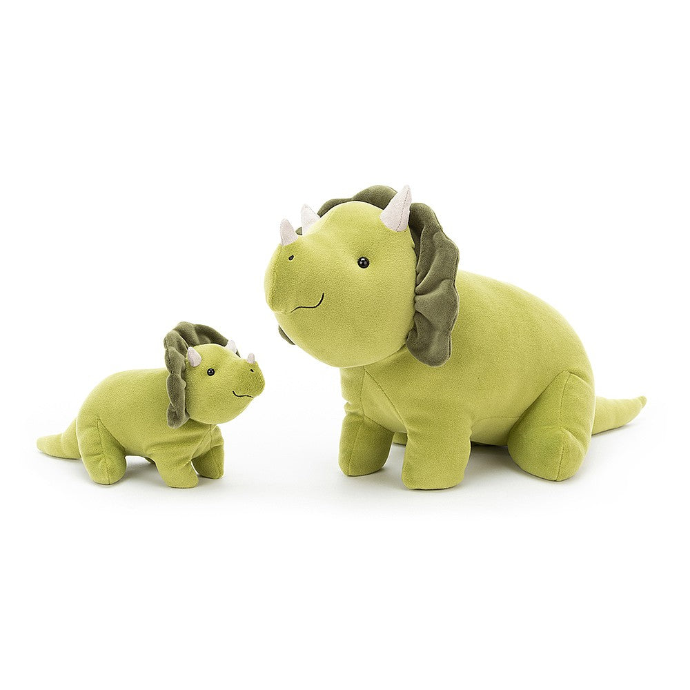 mellow mallow triceratops dinosaur green soft from Jellycat