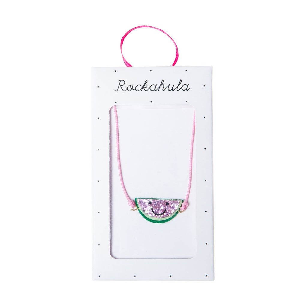 happy watermelon necklace, pink and green from rockahula