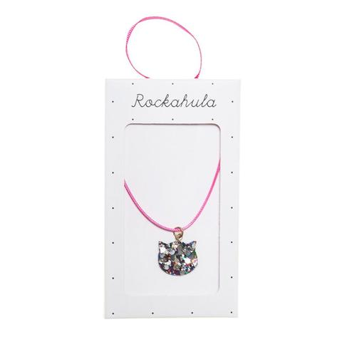 Rockahula - Cat Necklace in pink and glitter