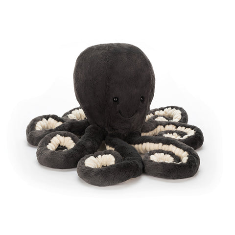 inky octopus, jellycat, black blue