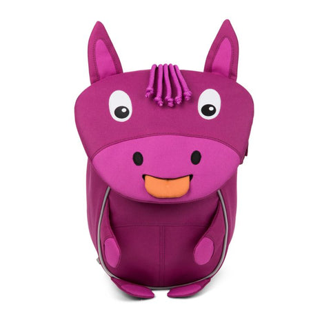 hanna horse purple backpack for kids recycled plastic bottles affenzahn